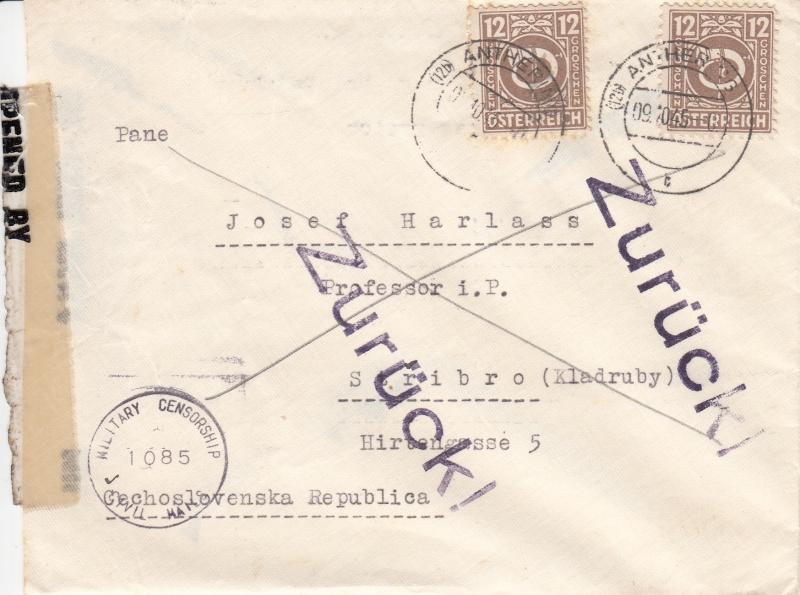 Posthornzeichnung  -  ANK 697-713  -  Belege - Seite 2 Img66