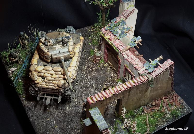 Une rencontre inattendue... Sherman M4A3 - Tamiya - 1/35 20151113