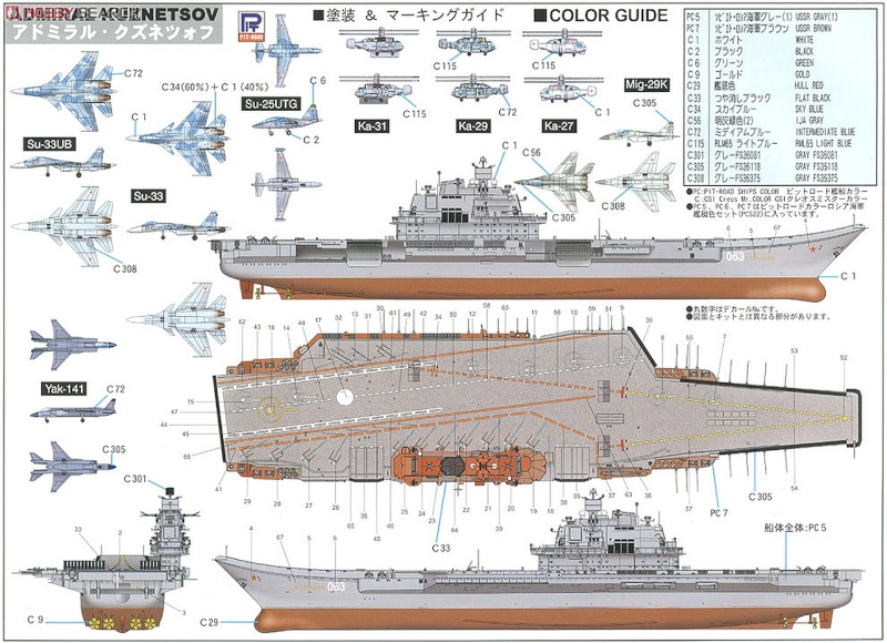 Admiral Kuznetsov 1/350ème de Trumpeter. 38284810