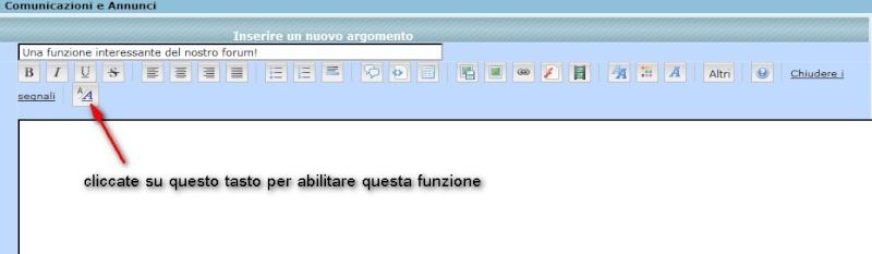 Alcune funzioni del forum 2009-011