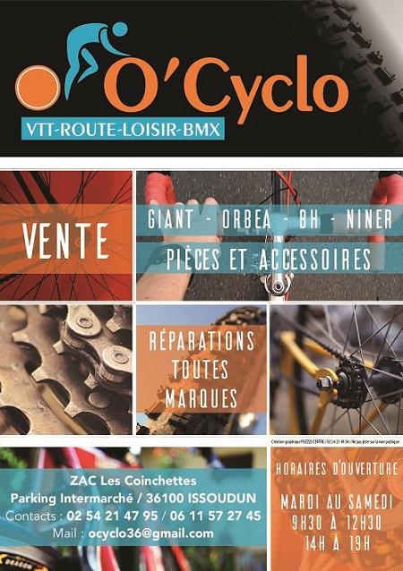 zh23. ISSOUDUN (Indre) - O'cyclo - Vente et réparation VTT, BMX, vélo route ou loisir, cycles 12_o_c10