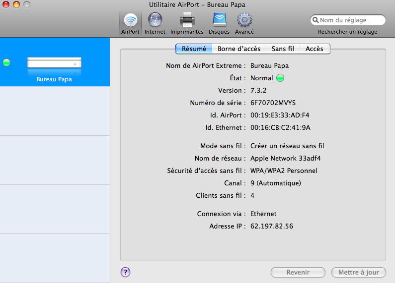 Lapin tout orange : Nabaztag/tag + Mac + Airport Extreme (version N) (WPA) Image_21