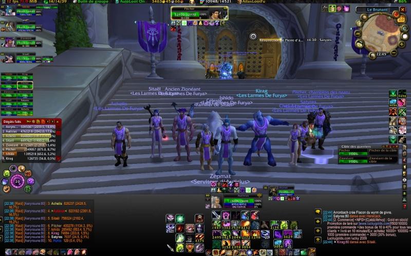 Premier raid 10 en guilde...........Voyez le resultat............ sur un air Village People........ Wowscr10