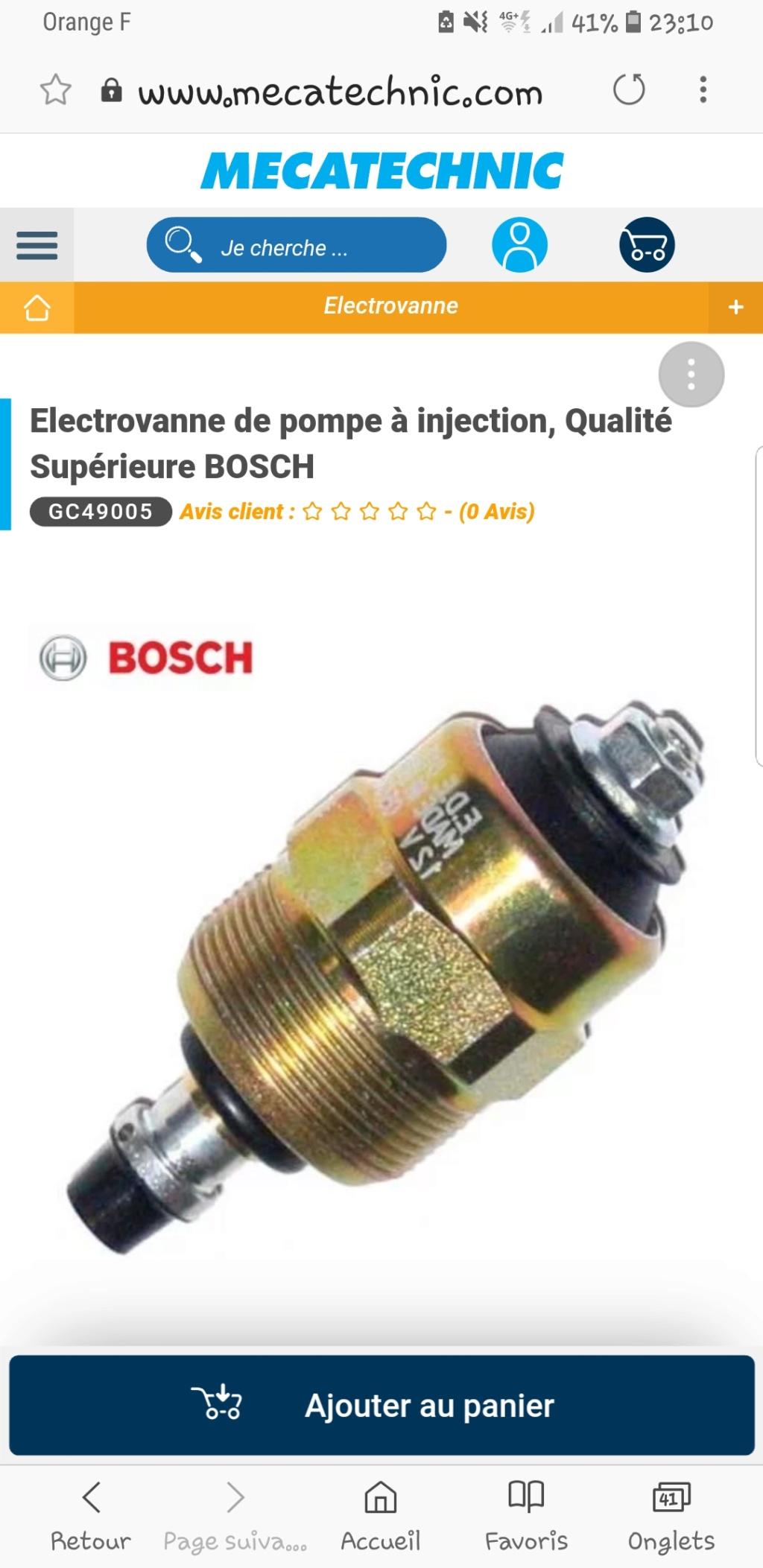 [ VW golf 3 1.9 tdi 90 ] electrovanne d'arret de pompe injection Screen10