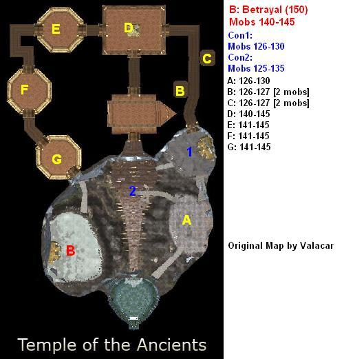Lost Mines / Crystal Valley / Temple of the Ancients Dungeon Mob Levels Maps Temple10