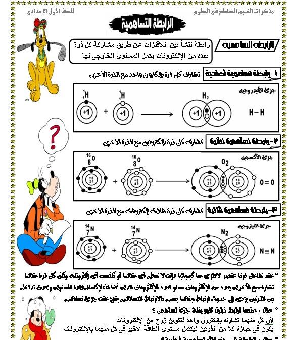 المذكرة الرائعة في منهج علوم للصف الأول الاعدادى ترم ثانى 117