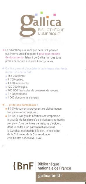Bibliothèque Nationale de France BNF Numa3377