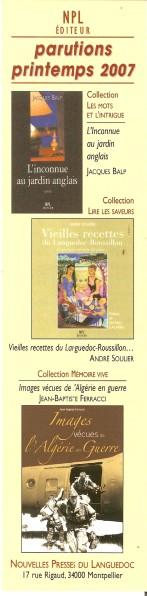 NPL ou Nouvelles presses du languedoc Numar347