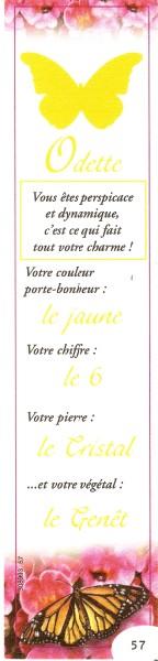 Prénoms en marque pages Numar740