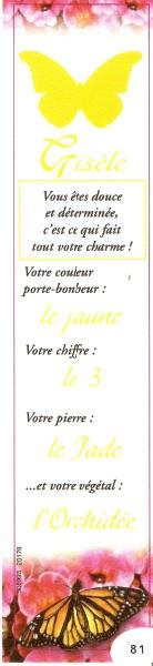 Prénoms en marque pages Numar755