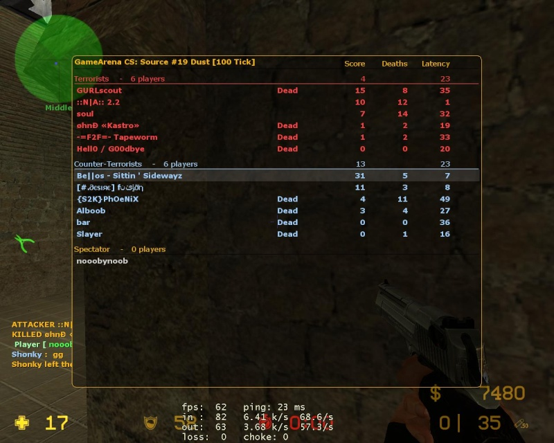 Some scores from back in the day Dust10
