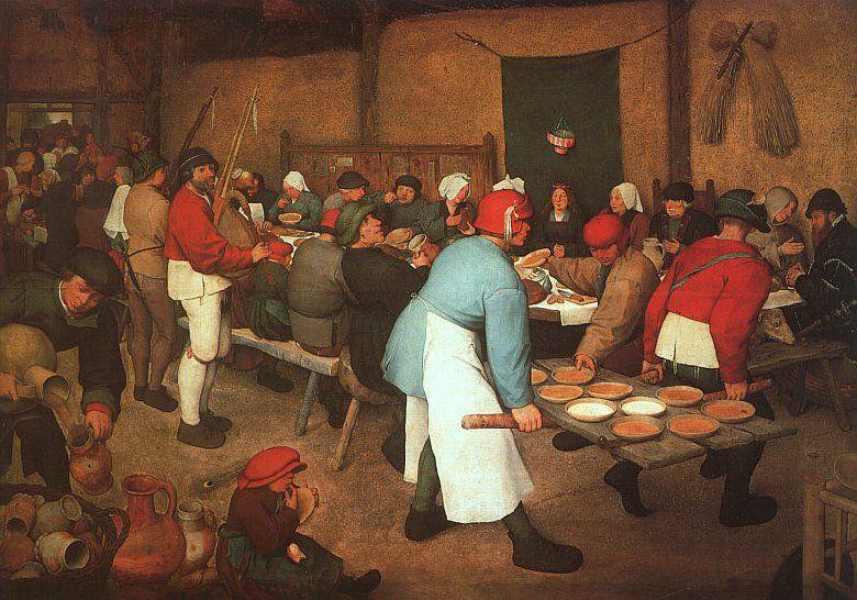 Le repas de noce (1568) de Pieter Bruegel, dit Bruegel l'Ancien. 87246010