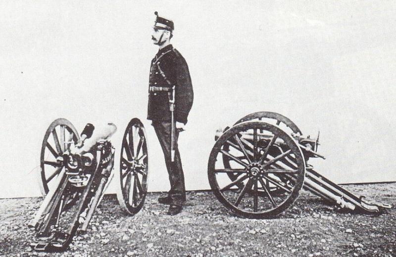 Tir au canon suisse de montagne de 75 mm 1877. Canon-10