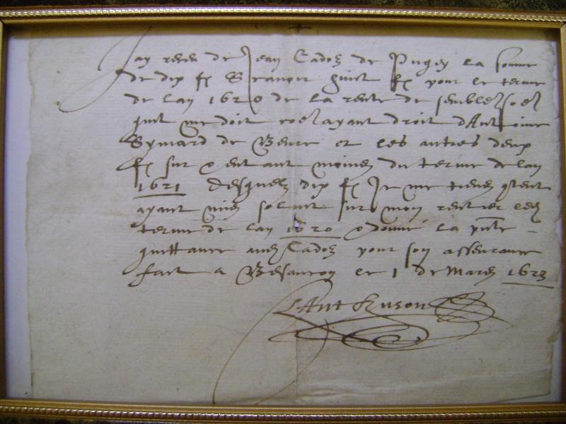 Gravure du siège de Dole en 1637. Dsc01412