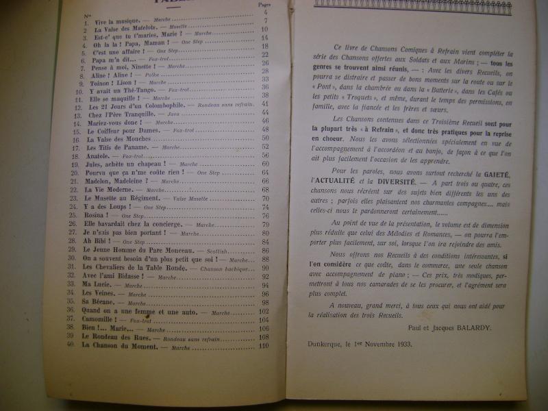 Les recueils de chansons des soldats. Dsc05048