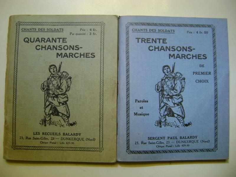 Les recueils de chansons des soldats. Dsc05050