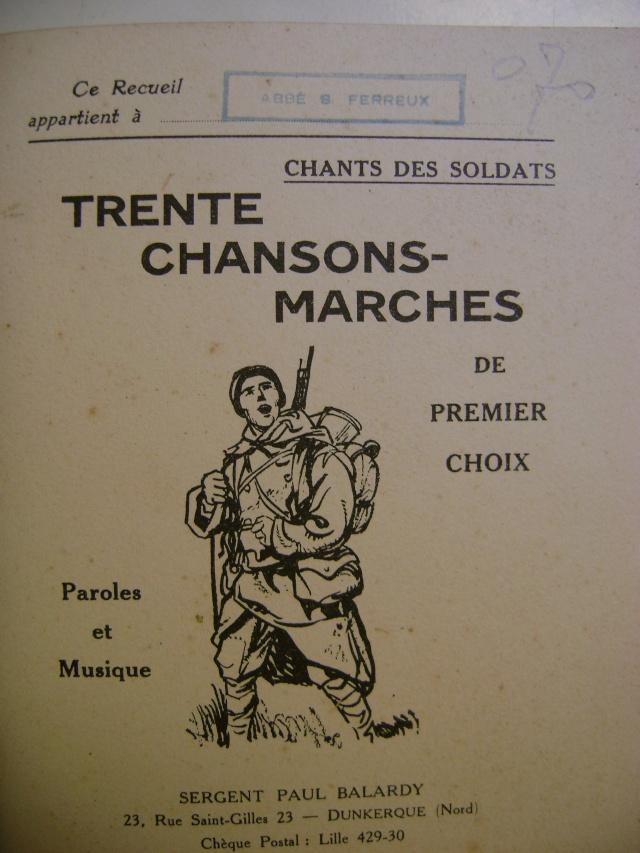 Les recueils de chansons des soldats. Dsc05051