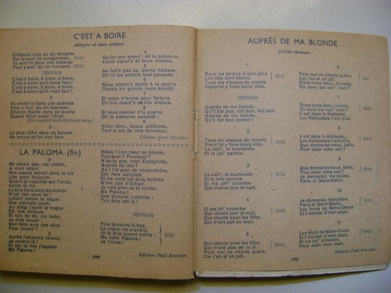 Les recueils de chansons des soldats. Dsc05056