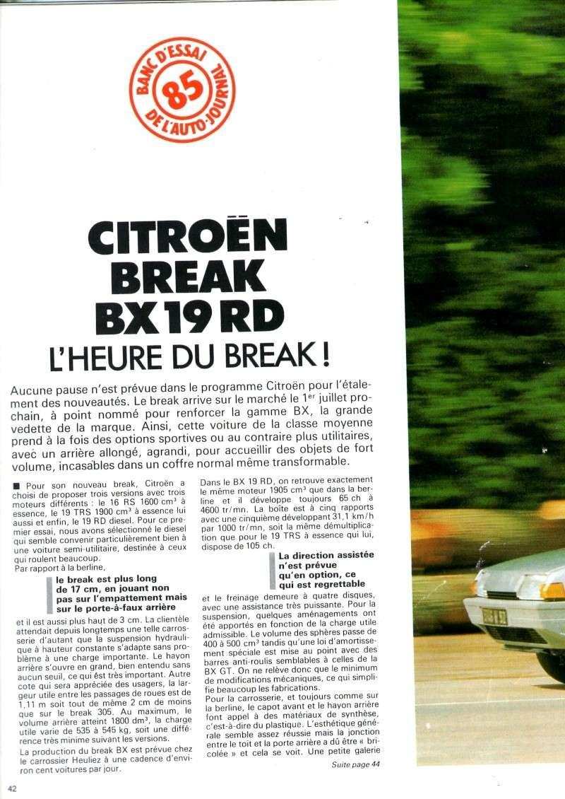 Auto journal du 15/10/85 et du 15/06/85  Img08110