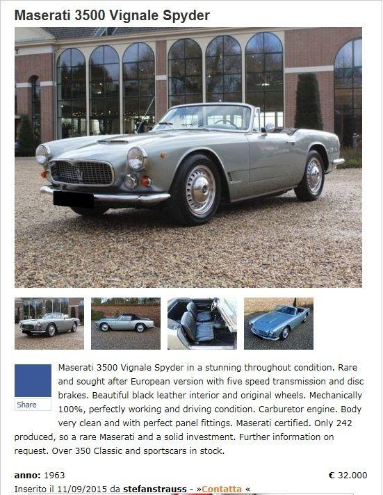 Consigli su 3500 GTi Spyder Vignale da restauro totale - Pagina 2 Cattur11