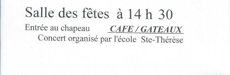 Concert organisé par l'école Ste Thérèse le 24 janvier à 14 h 30 Brasse11