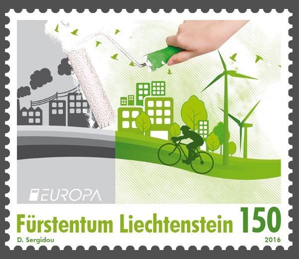Liechtenstein - Liechtenstein 2016 - Ausgabetag 7. März Europa12