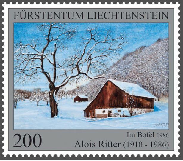 Liechtenstein 2016 - Ausgabetag 7. März Maler210