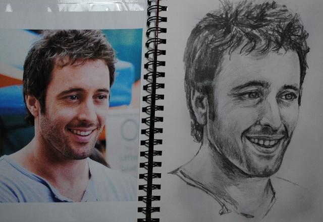 portraits au crayon Alex510