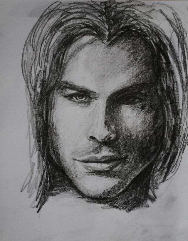 portraits au crayon Ian211