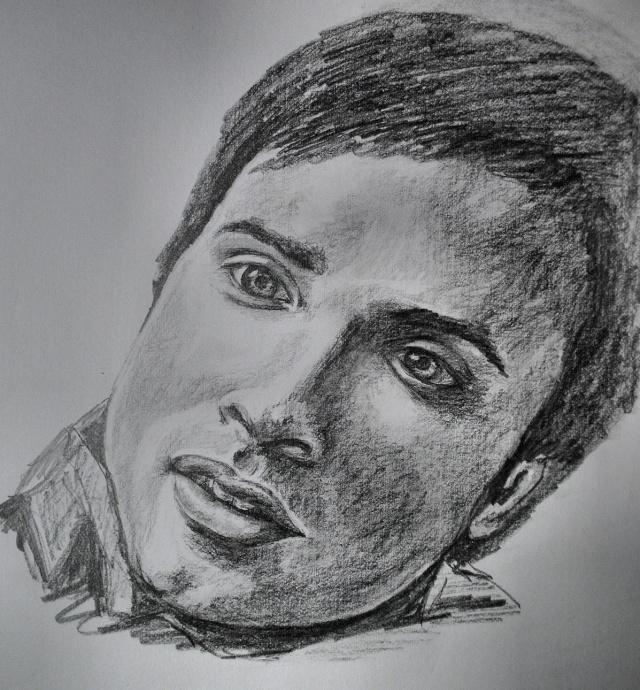 portraits au crayon Tom_we12
