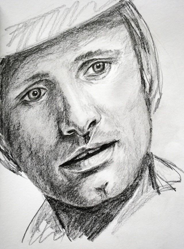portraits au crayon Viggo_10