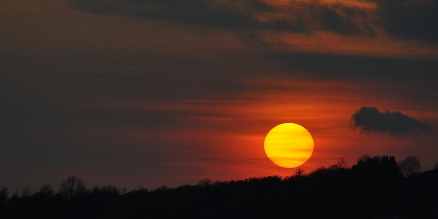 Coucher de soleil, hier à Contz les Bains 15122610