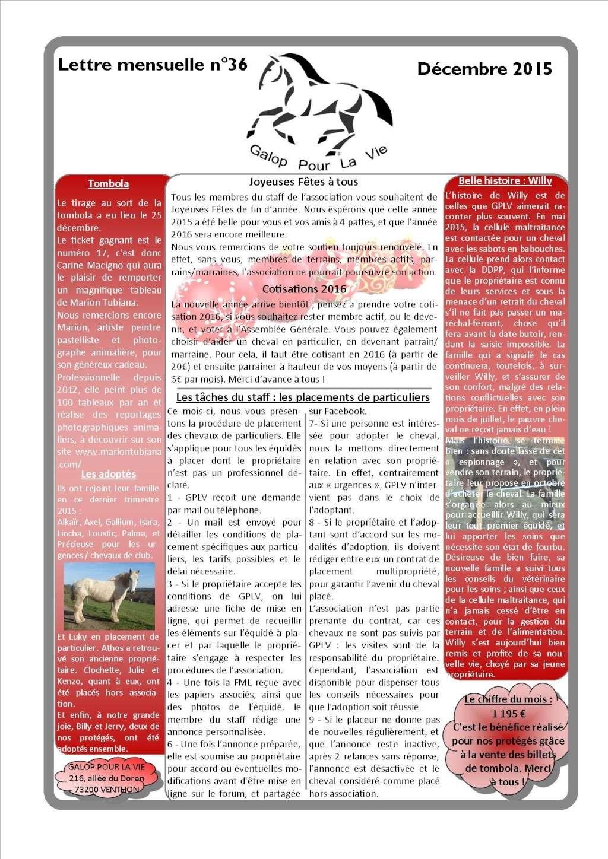 GPLV - Lettre Mensuelle n°36 - Décembre 2015  Imagep11