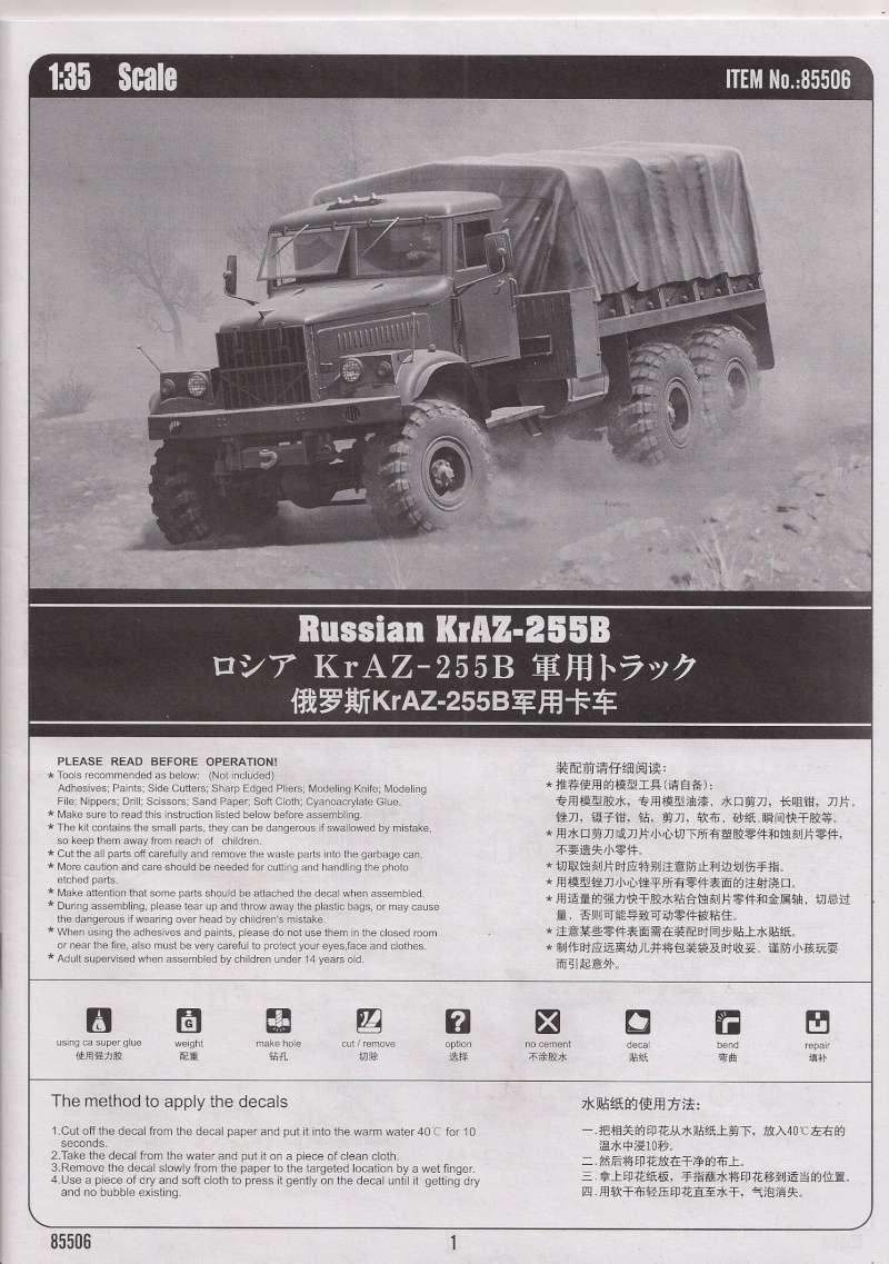 Le Russian KrAZ 255B au 1/35éme de chez Hobby Boss Image022