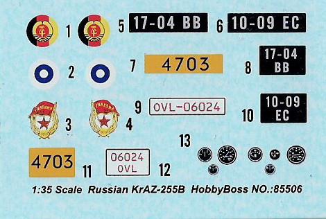 Le Russian KrAZ 255B au 1/35éme de chez Hobby Boss Image037