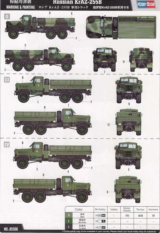 Le Russian KrAZ 255B au 1/35éme de chez Hobby Boss Image112