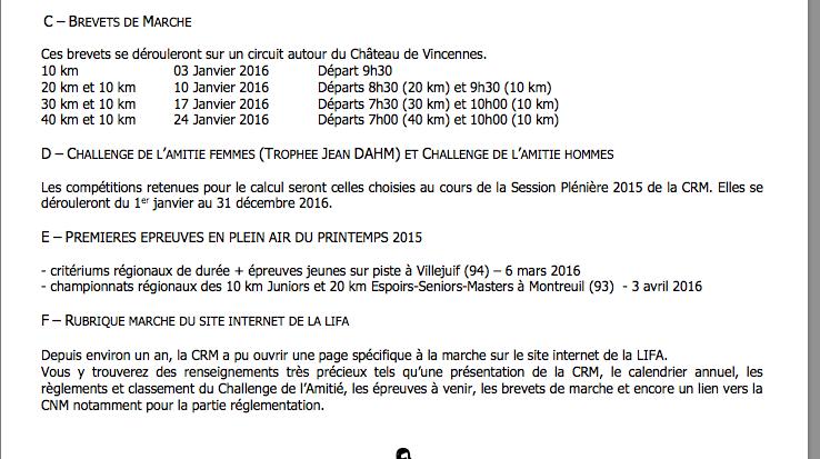 Brevets de marche Vincennes 2016 Vincen10