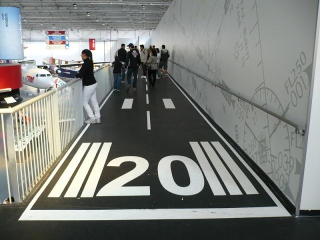 Reinauguração do museu da TAM 1210