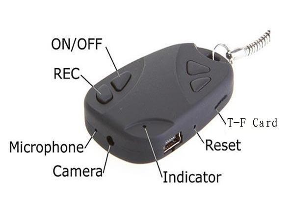 808 Car Keys Micro Camera with keychain - Uma alternativa barata Sem_ta26