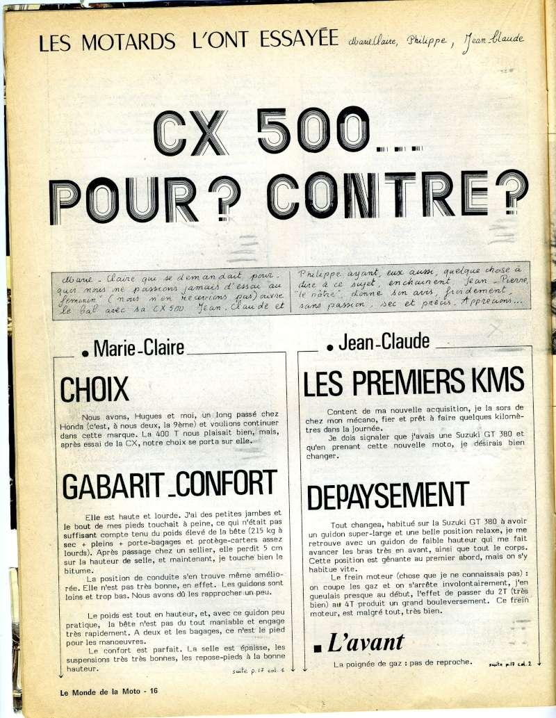 Honda CX500, la vérité. Le monde de la moto, avril 1979 Img16310