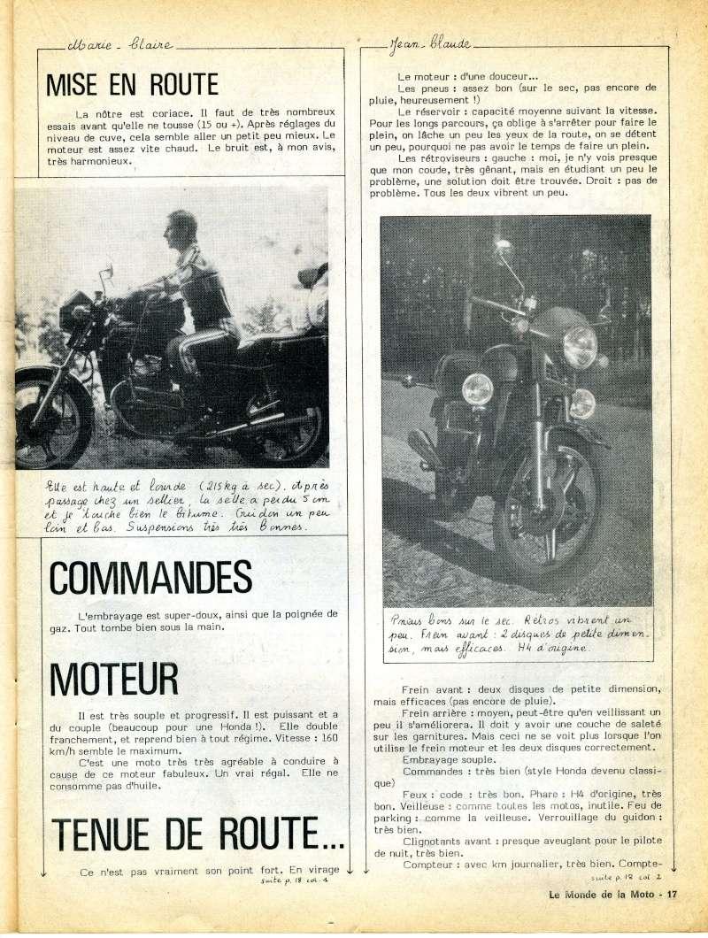 Honda CX500, la vérité. Le monde de la moto, avril 1979 Img16411