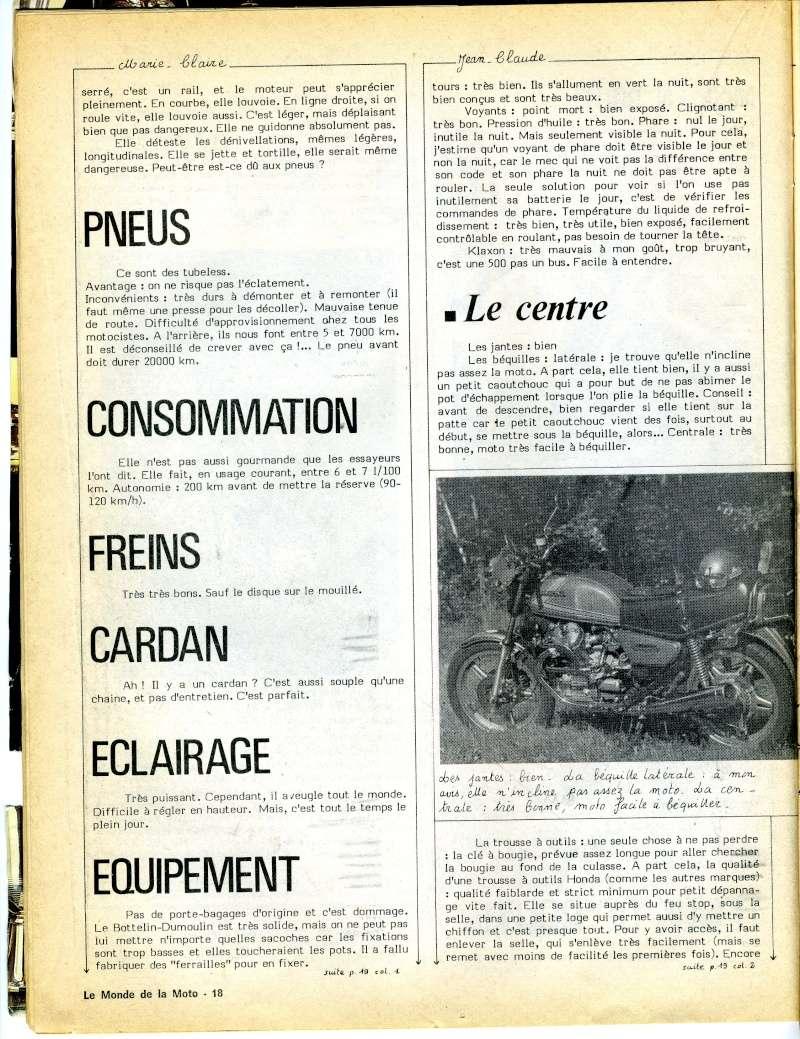 Honda CX500, la vérité. Le monde de la moto, avril 1979 Img16510