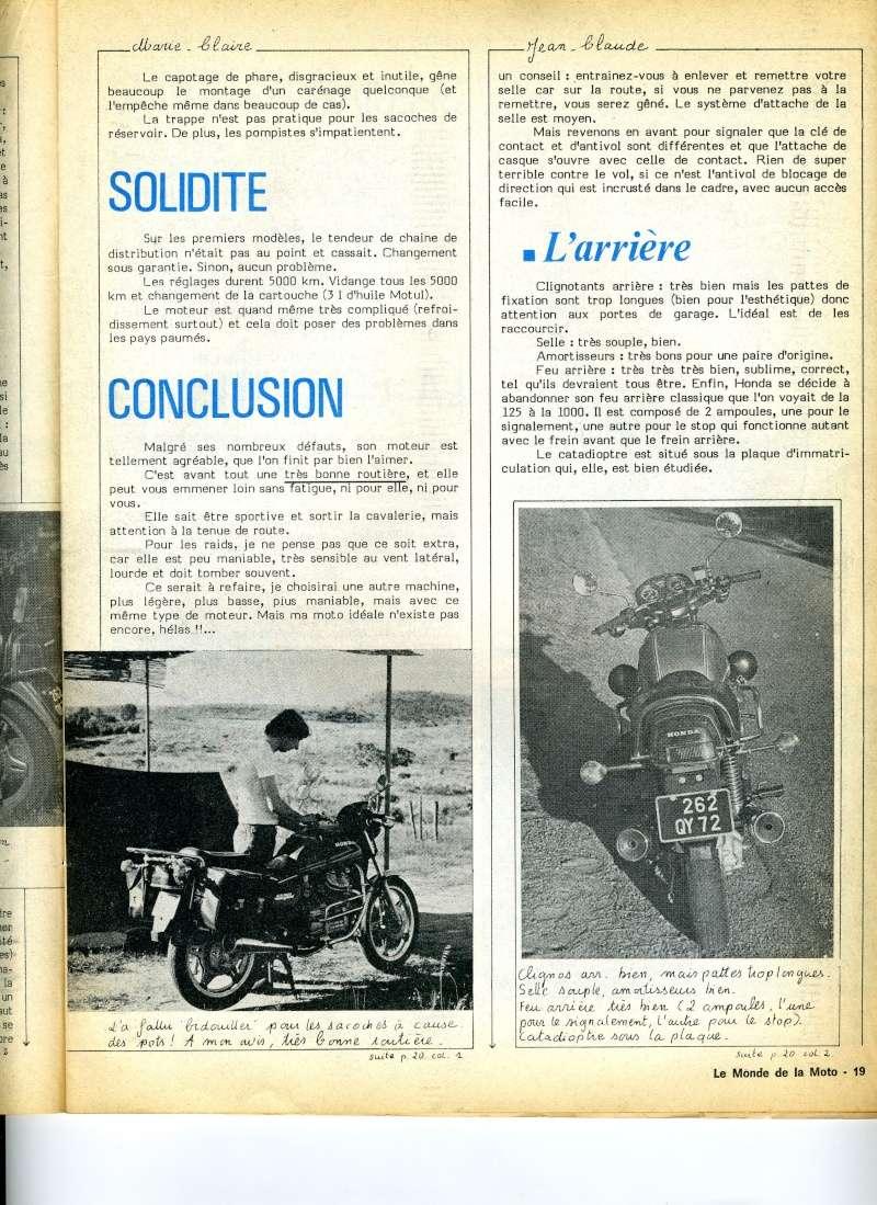 Honda CX500, la vérité. Le monde de la moto, avril 1979 Img16610