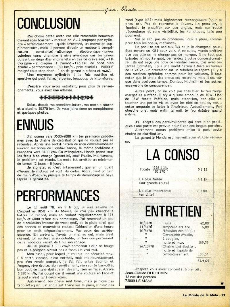 Honda CX500, la vérité. Le monde de la moto, avril 1979 Img16810