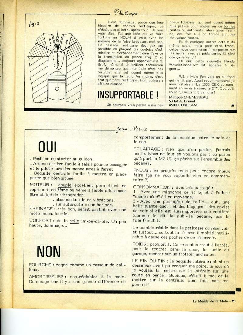 Honda CX500, la vérité. Le monde de la moto, avril 1979 Img17010