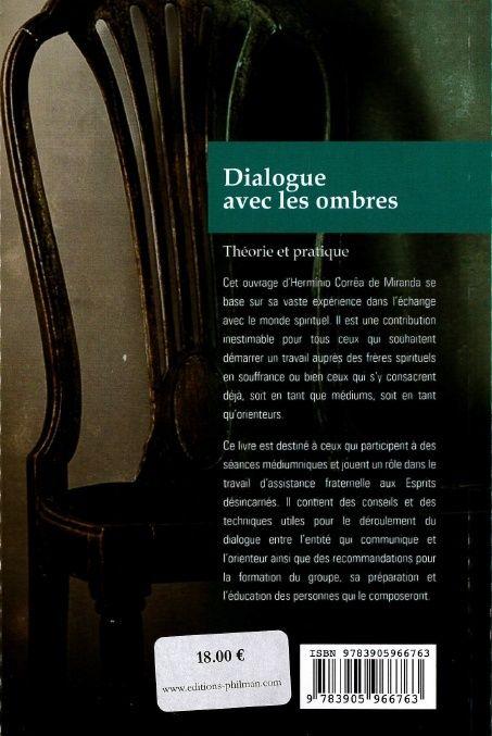 "(Livre) ""Dialogue avec les ombres"" de Herminio Corrêa de Miranda. Dosdia10"