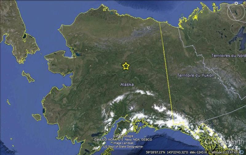 Street view: La route vers l'océan arctique. L'Alaska vu depuis la Dalton Highway. Yukon110