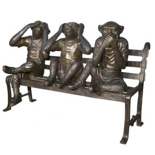 L'homme descend du singe, la femme aussi Statue11