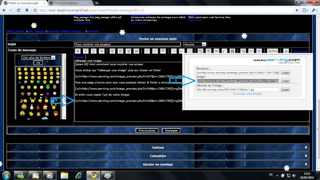 Comment montrer vos screens Tutu12