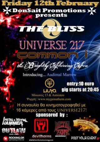 The Bliss, Universe217, Common I, The Brightly Shining Sea, Audiman Marrow Live @ Myga 12/2/10 212310